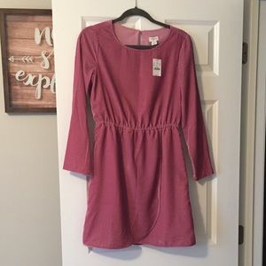Dusty pink velvet dress